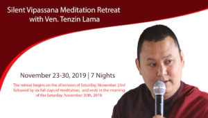 Silent Vipassana Meditation Retreat  with Ven. Tenzin Lama @ Osho Nirvana | Valley Center | California | United States