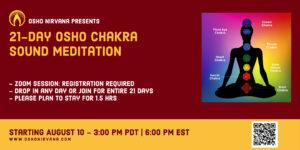 Osho Chakra Sound Meditation - Online session @ Zoom