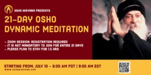 Dynamic Meditation - online session @ Zoom online.