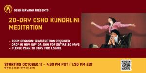 Osho Kundalini Meditation - Online Session @ Zoom