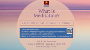What is meditation? @ Zoom - Online